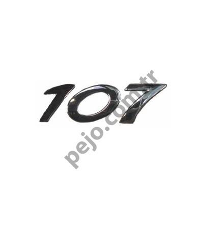 Peugeot 107 Bagaj Yazısı